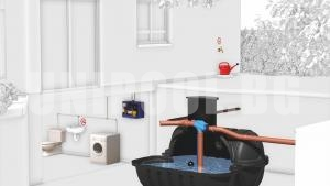 Резервоар за дъждовна и питейна вода Roth Twinbloc 5000 L