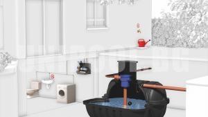 Резервоар за дъждовна и питейна вода Roth Twinbloc 3500 L