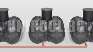 Резервоар за дъждовна и питейна вода Roth Twinbloc 1500 L