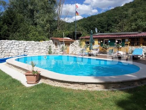 Овален басейн 5.0 x 10.0 x 1.5 m