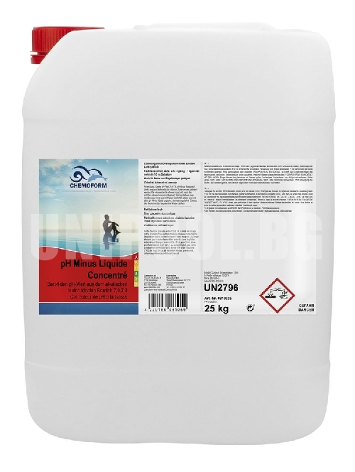 Chemoform pH-Minus (-) течен 25,0 kg